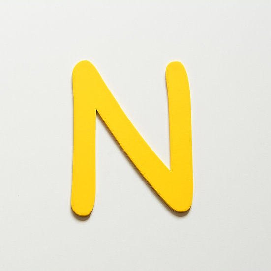 Wooden Letter N (10 color)