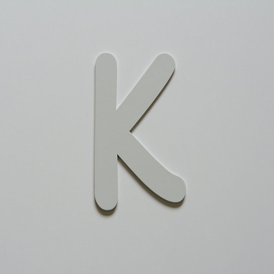 Wooden Letter K (10 color)