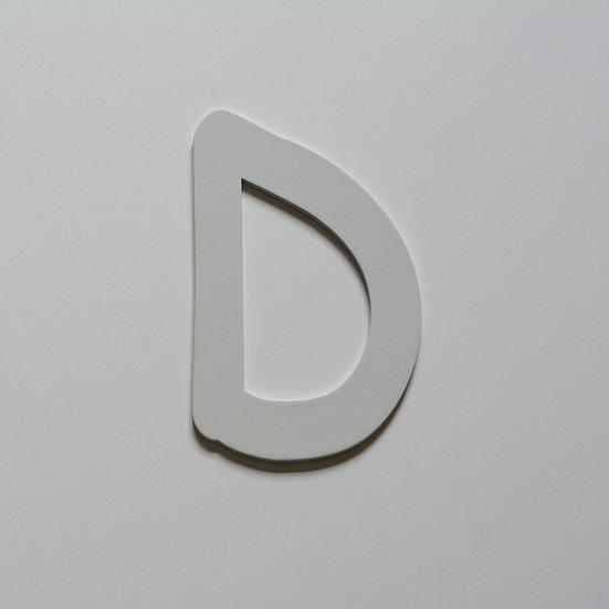 Wooden Letter D (10 color)