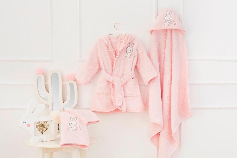 Baby Bathrobe Set / %100 Organic Cotton