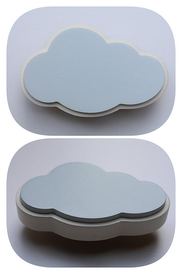 Wooden Cloud Drawer Knob
