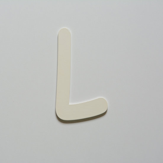 Wooden Letter L (10 color)