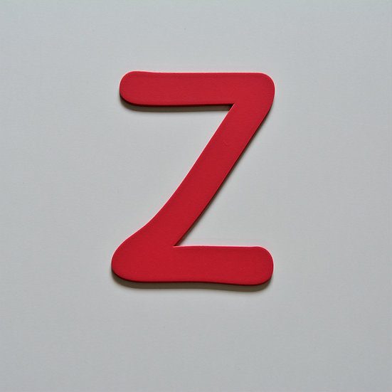 Wooden Letter Z (10 color)