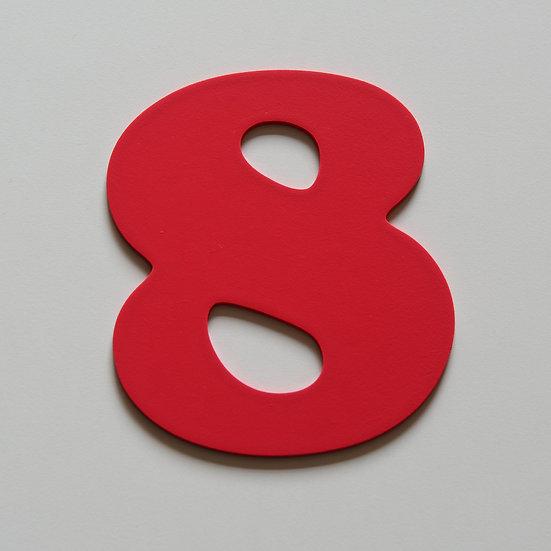 Wooden Number 8 (10 color)