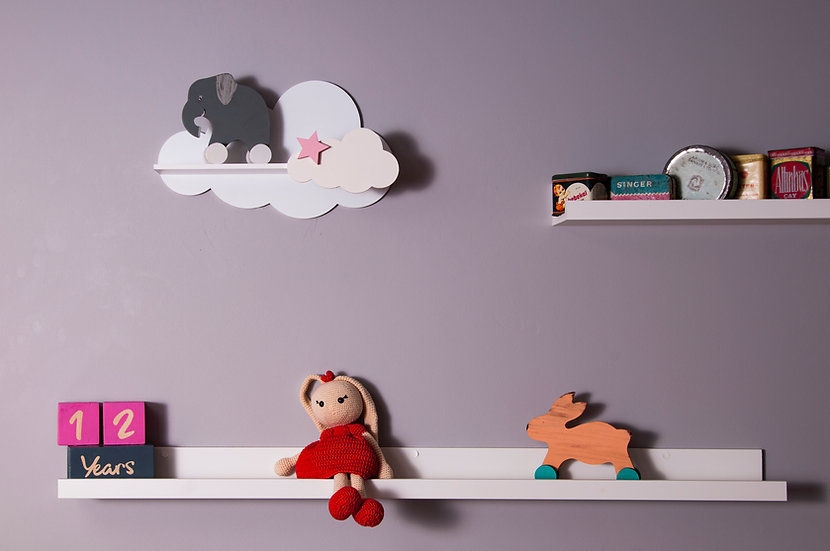 Cloud Shelf with Star (4 color)