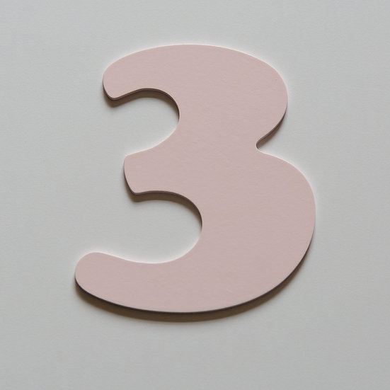 Wooden Number 3 (10 color)