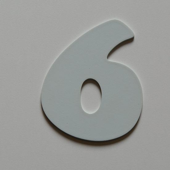 Wooden Number 6 (10 color)
