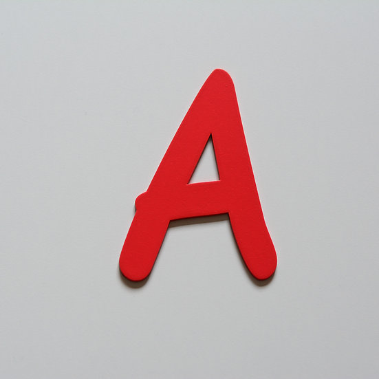 Wooden Letter A (10 color)