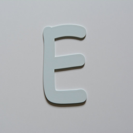 Wooden Letter E (10 color)