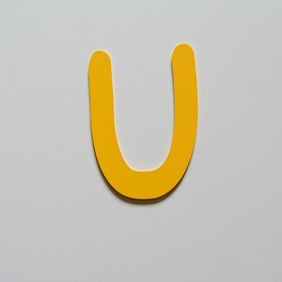 Wooden Letter U (10 color)