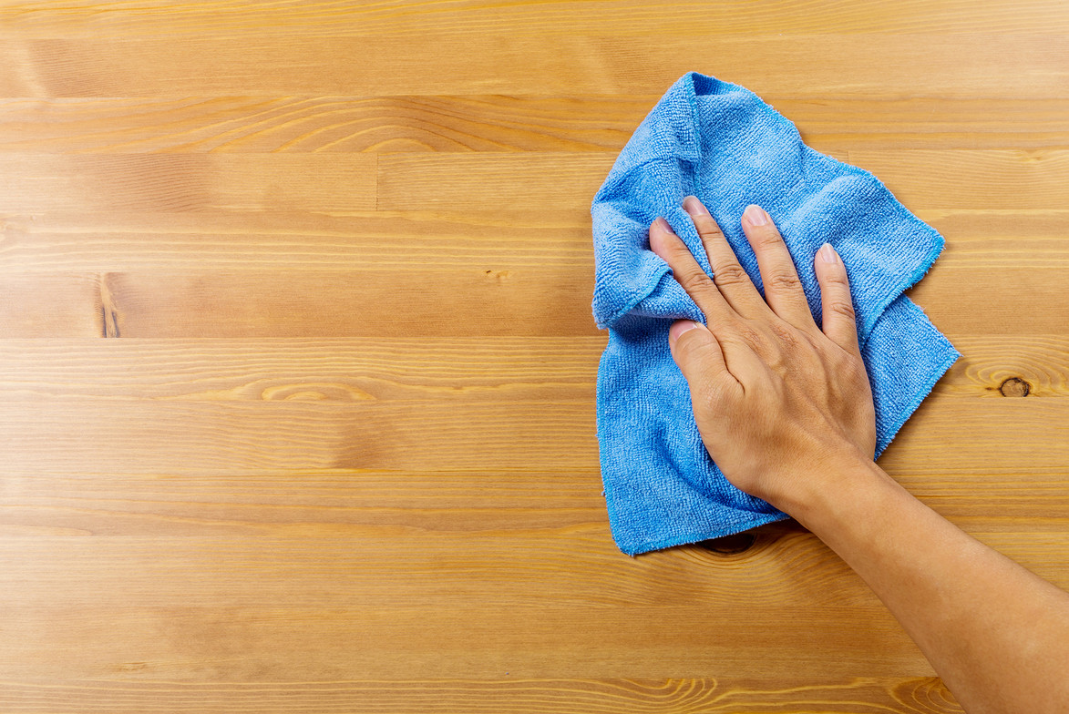 Putzen mit Lappen