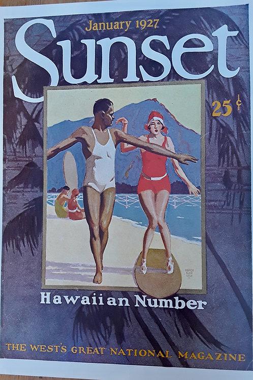 Hawaiian Surfers - Jan 1927