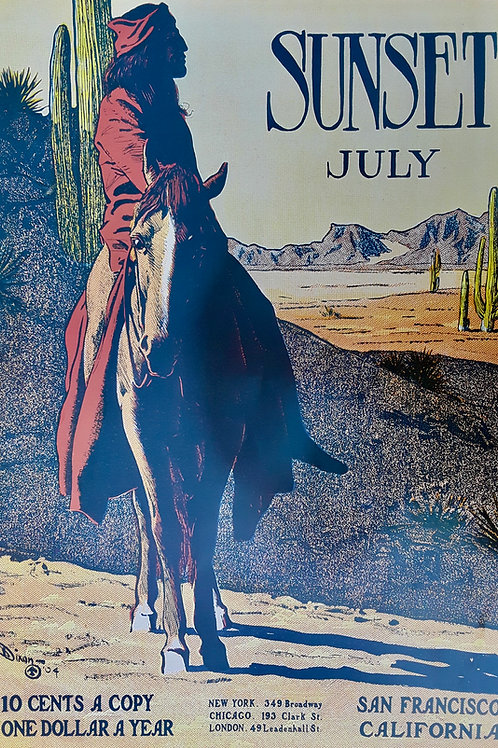 Native American on a horse - July