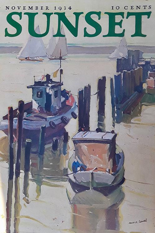 Sausalito Boats - Nov. 1934