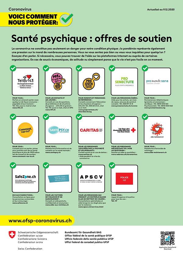 Affiche Offres de soutien Santé psychiqu