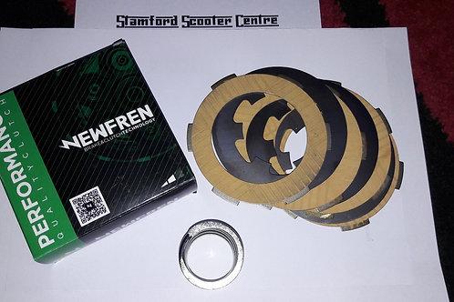 Vespa Smallframe 4 Plate Clutch Conversion Kit Newfren Racing compound 50 90 125