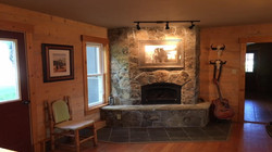 ranch house fireplace