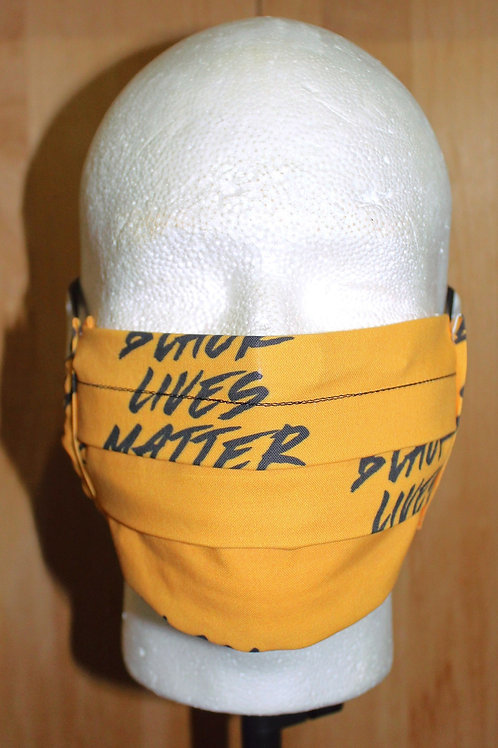 Yellow Black Lives Matter Cloth Mask