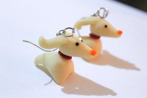 Glowing Nightmare Dog Earrings