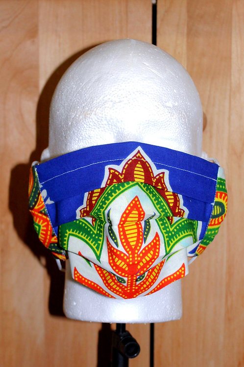 African Flower Cloth Mask