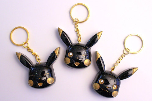 Mouse Charms (Black & Gold)