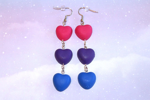 Bi Pride Heart Earrings