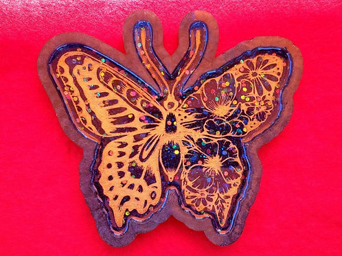 Blue & Gold Butterfly Tray