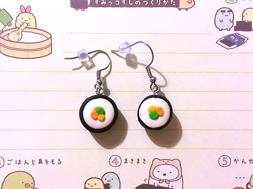 California Roll Sushi Earrings