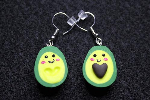 Avocado Heart Earrings