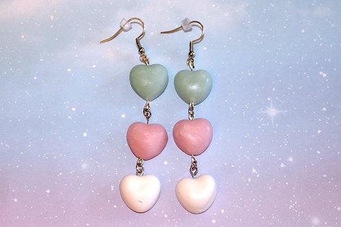 Trans Pride Heart Earrings