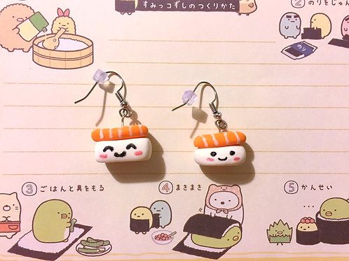 Salmon Nigiri Sushi Earrings