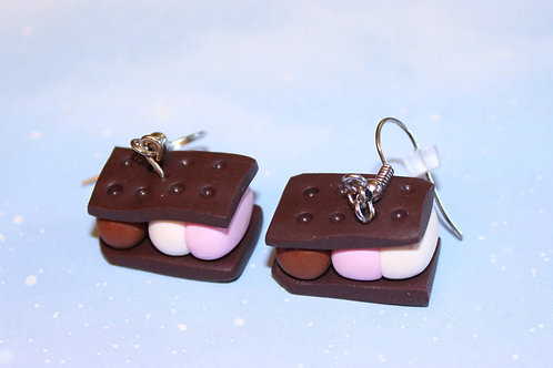 Neapolitan Ice Cream Sandwich Earrings