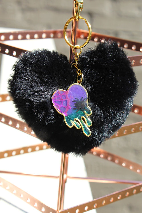 Poisoned Dripping Heart Charm
