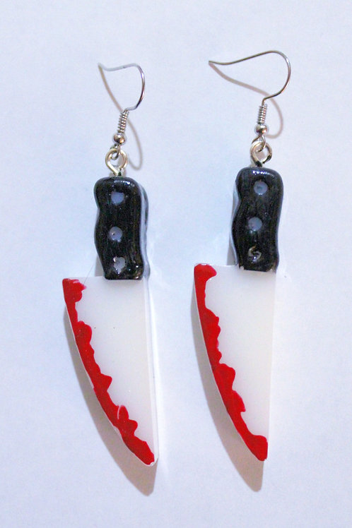 White Kimo-Kawaii Knife Earrings