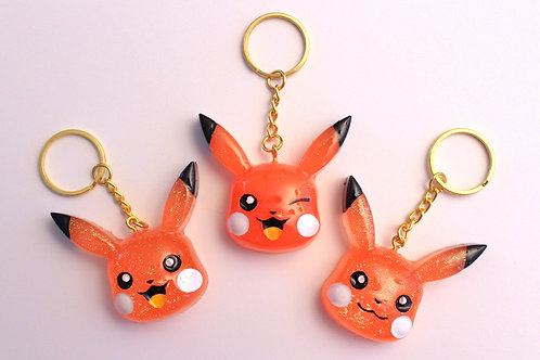 Mouse Charms (Bright Orange)
