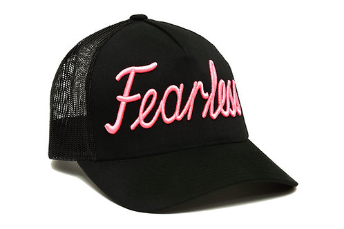 Fearless Trucker Hat Pink Neon