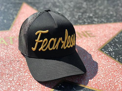 Fearless Trucker Hat Gold  Neon