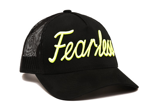 Fearless Trucker Hat Yellow Neon