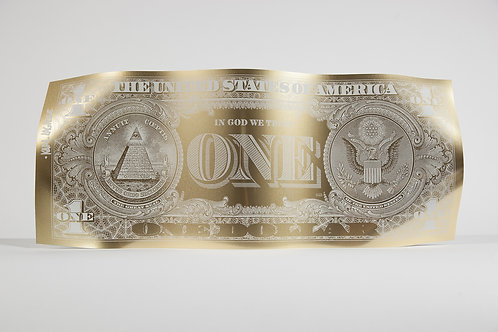 ONE DOLLAR ENGRAVED GOLD