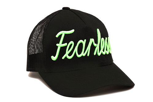 Fearless Trucker Hat Green  Neon
