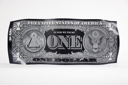 ONE DOLLAR ENGRAVED BLACK