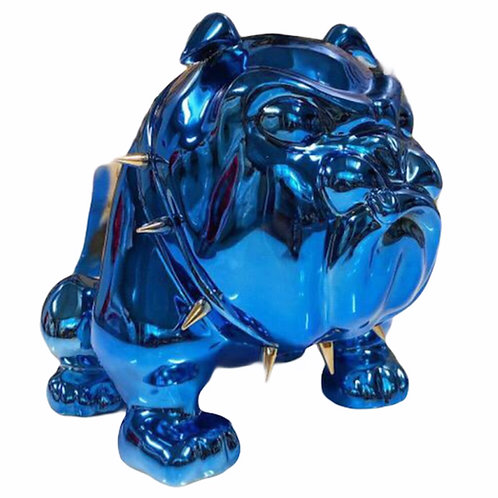 SMALL BULLDOG BLUE CHROME