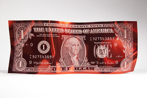 ONE DOLLAR ENGRAVED RED