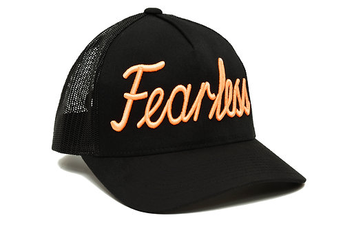 Fearless Trucker Hat Orange  Neon