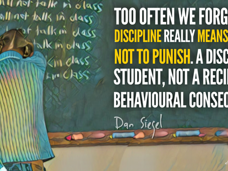 Discipline means to teach