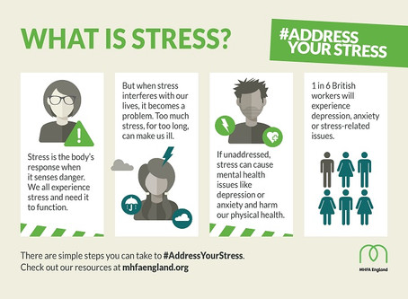 Stress Awareness Infographics from MHFA