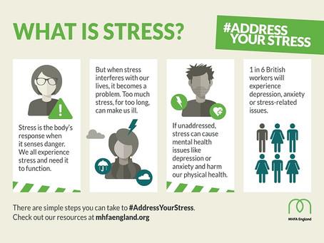 Stress Awareness Infographicsfrom MHFA