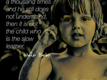 If you've told a child a thousand times...
