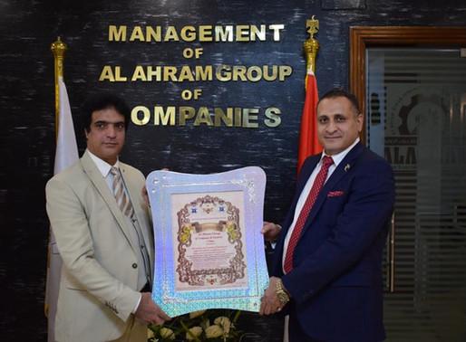 الملكي الدبلوماسي يكرم شركات الاهرام الدولية لدورها الرائد في الصناعة والاستثمار