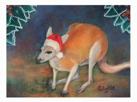 Christmas Kangaroo- Card